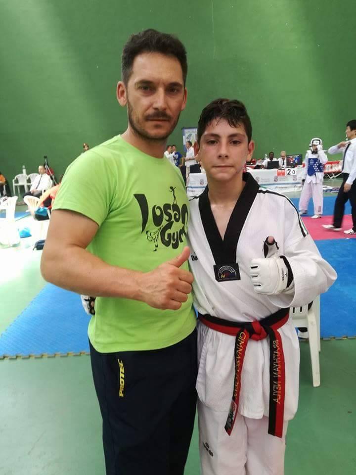 Brathyan Neila plata en el IV Open Internacional de Taekwondo Cantalejo