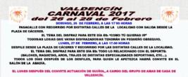 CARTEL CARNAVAL VALDENCIN 2017