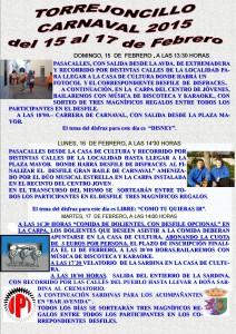 CARTEL CARNAVALTORREJONCILLO 2015