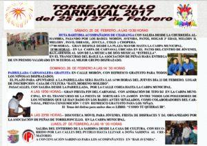 CARTEL CARNAVALTORREJONCILLO 2017 m