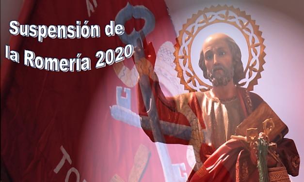 SUSPENSIÓN DE LA ROMERÍA DE SAN PEDRO 2020