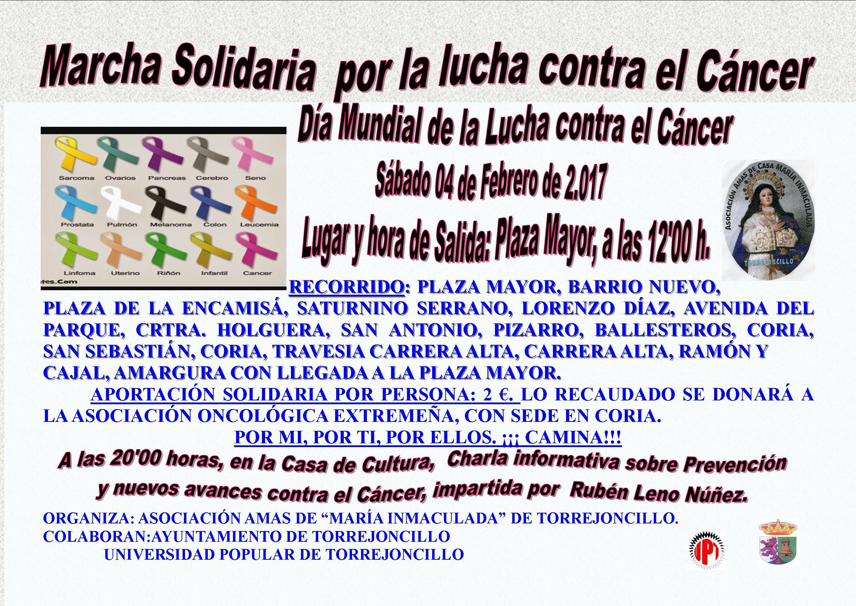 CARTEL MARCHA SOLIDARIA CONTRA EL CÁNCER