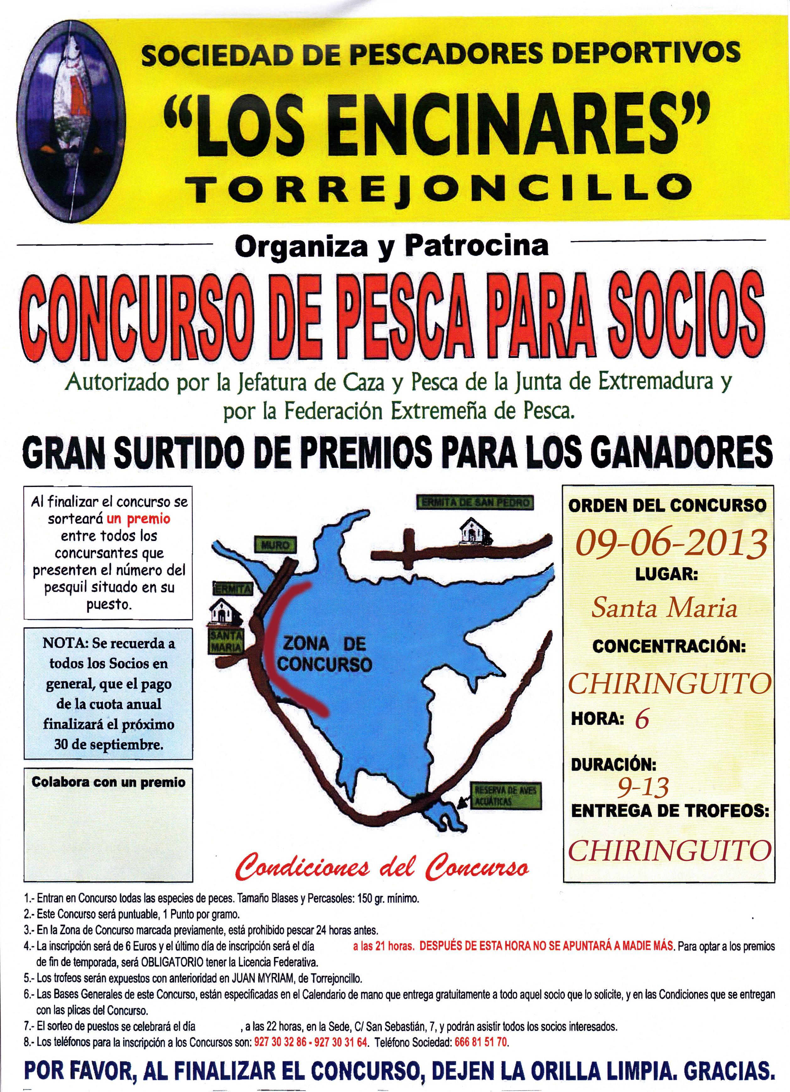 """La Sociedad de Pescadores """"Los Encinares"""" celebra el cuarto concurso de la temporada"""