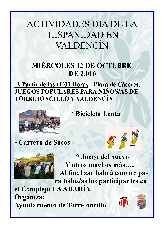 Día de la Hispanidad en Valdencín