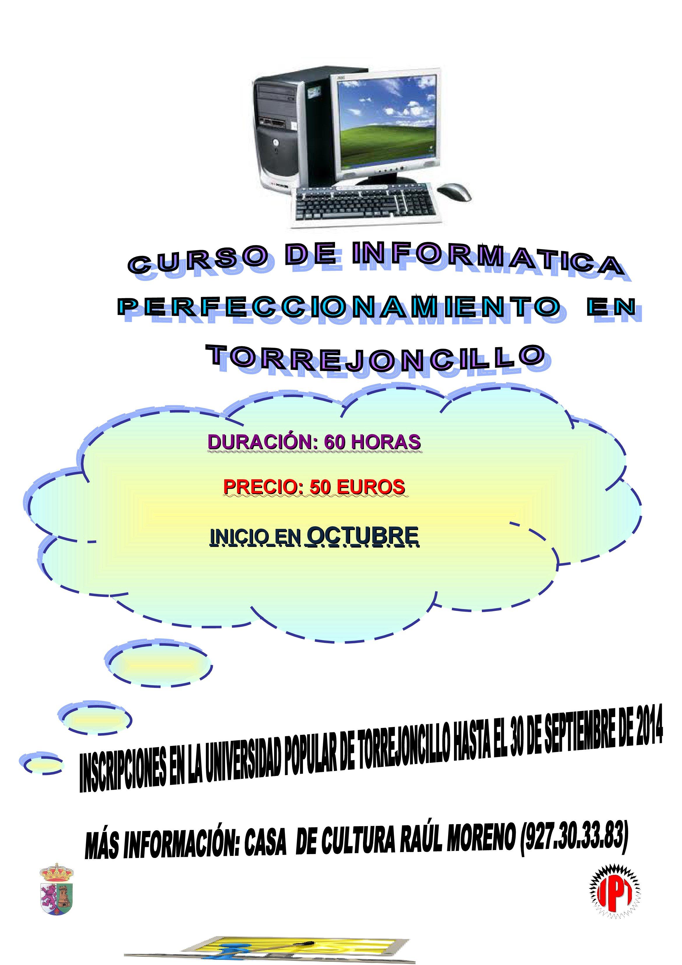 Abierto el plazo de inscripción en los cursos de la Universidad Popular de Torrejoncillo.