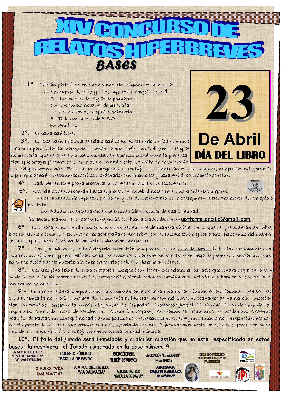 XIV Concurso de Relatos Hiperbreves Torrejoncillo