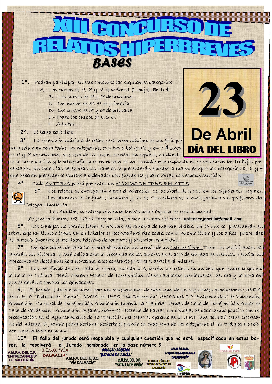 XIII Concurso de Relatos Hiperbreves Torrejoncillo