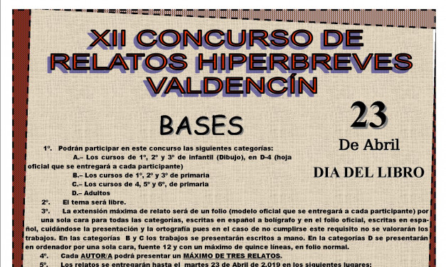 XII Concurso de Relatos Hiperbreves en Valdencín