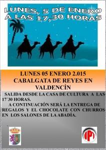 Cabalgata rey 2015 VALDENCIN