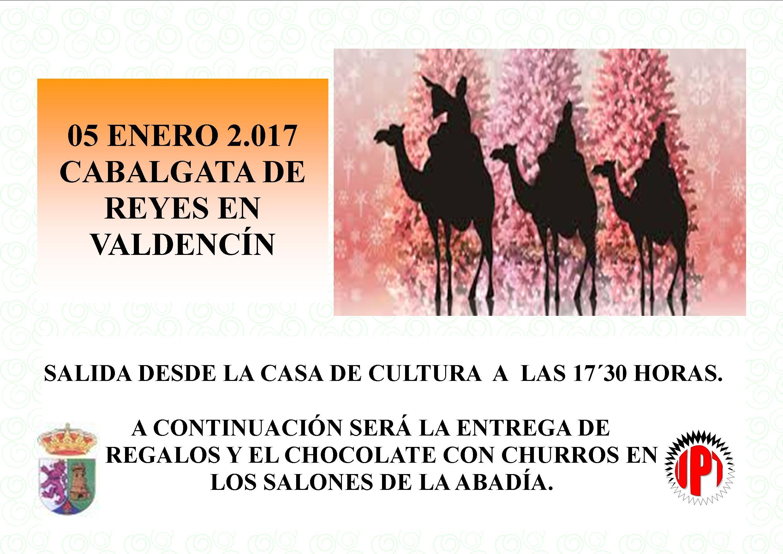Cabalgata de Reyes 2017 en Torrejoncillo y Valdencín