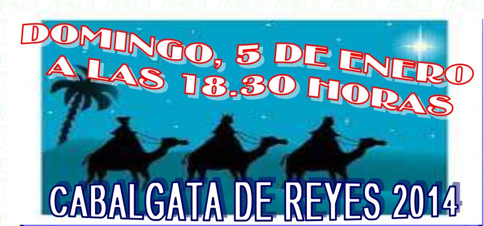Cabalgata de Reyes en Torrejoncillo. Domingo, 5 de enero a las 18:30 h.