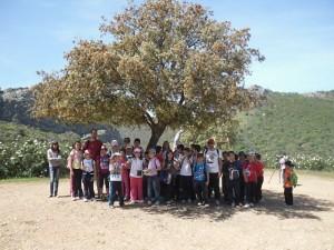 Uno de los grupos de escolares que realizaron el itinerario - CEDIDA
