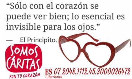 """""""Solo con el corazón se puede ver bien, lo esencial es invisible para los ojos"""" campaña de caritas parroquial de Torrejoncillo"""