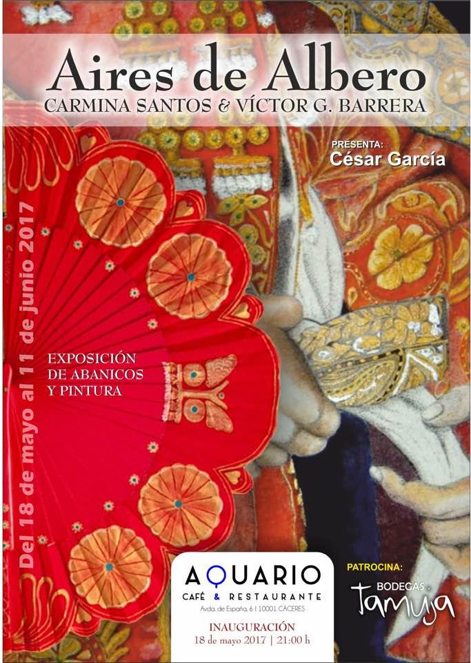 Exposición de abanicos de Carmina Santos