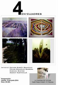 Carmina Santos expondrá su obra en Cáceres en la Exposición 4EN-C UADRES