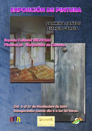 Carmina Santos expondrá el próximo 6 de Noviembre en Malpartida de Cáceres