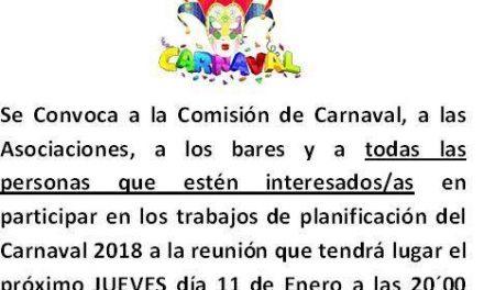 Reunión Comisión Carnaval