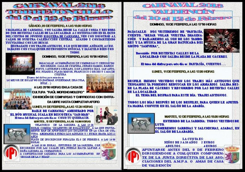 Carnavales Torrejoncillo y Valdencín