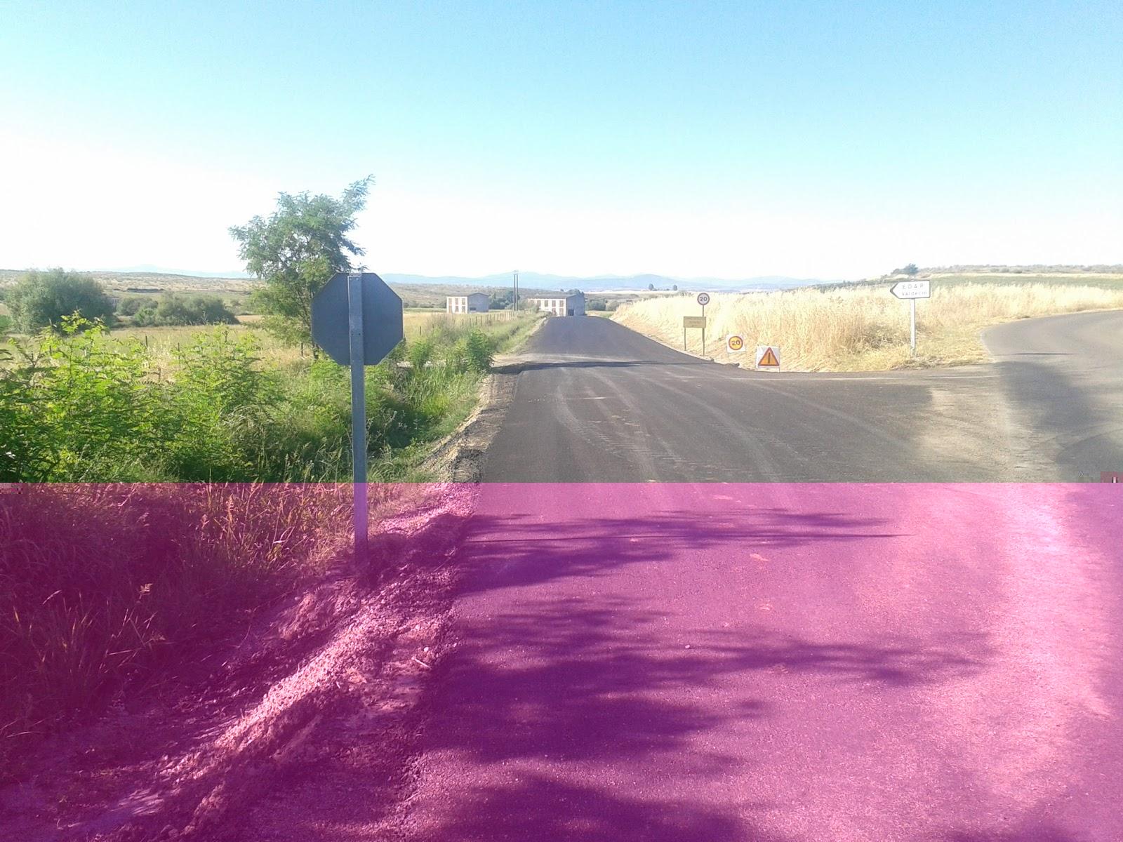 Echávarri visita Riolobos y destaca la inversión de 160.000 € en el Camino de la Salgada de Valdencín
