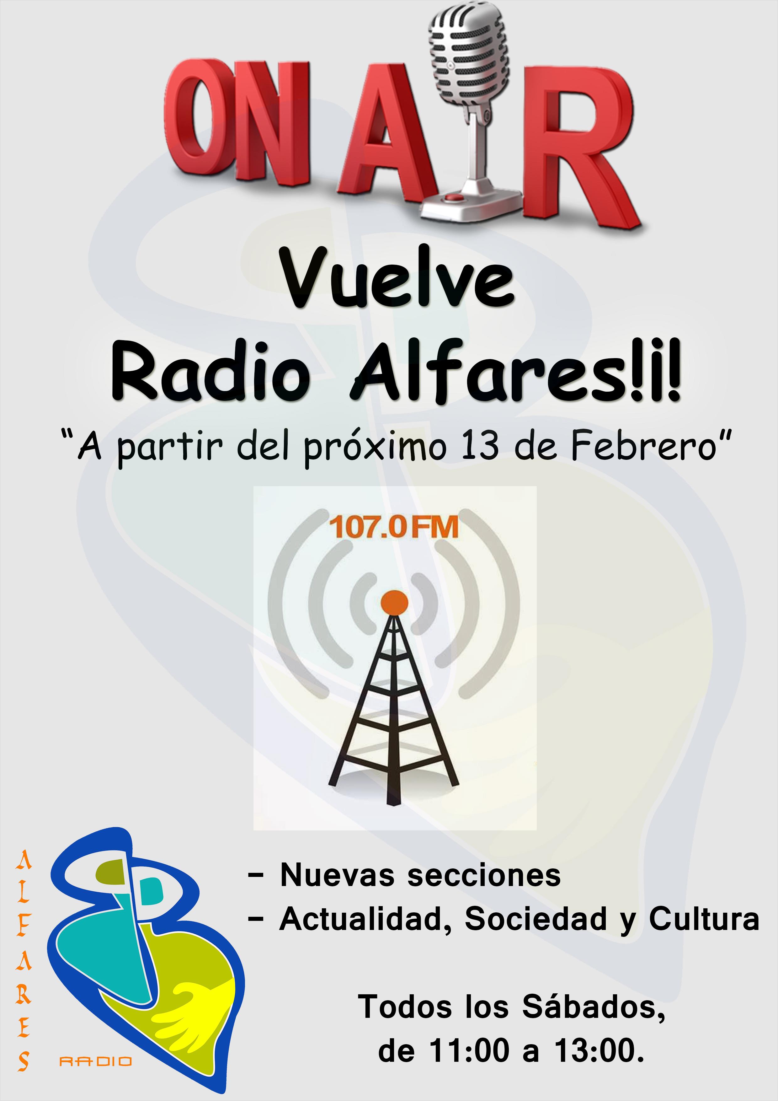 Este sábado vuelve Radio Alfares por la 107.0 FM