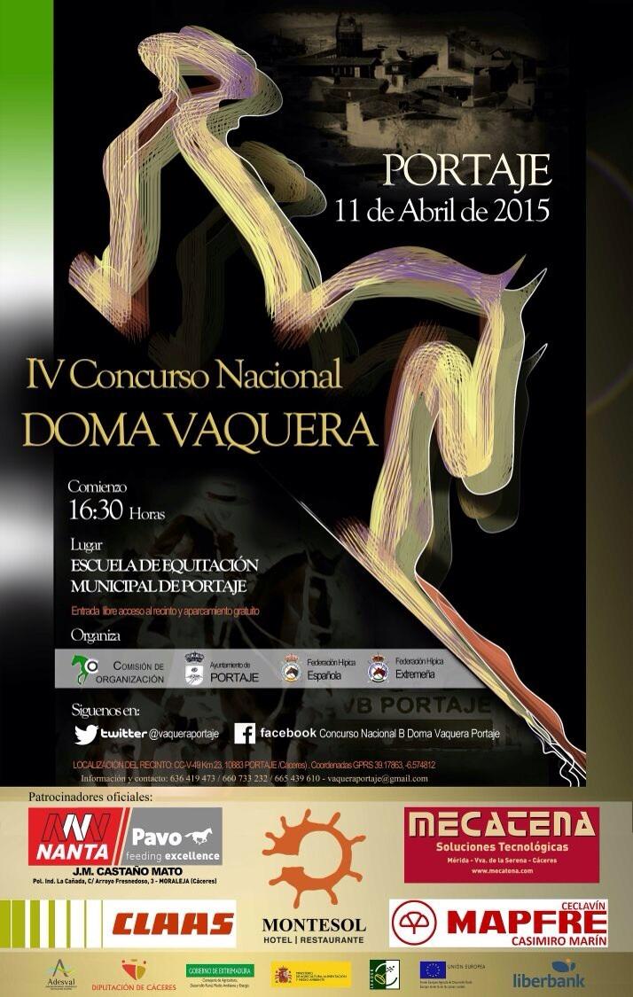 IV Concurso Nacional «B» Doma Vaquera este fin de semana en Portaje