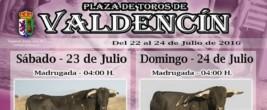 Cartel Fiestas Valdencin 2016