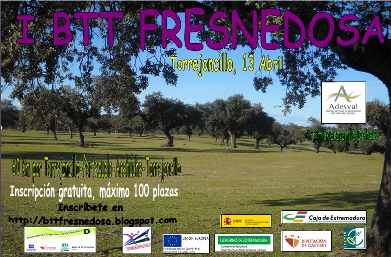Cartel de la primera ruta ciclista en BTT Fresnedosa - DINAMIZACIÓN DEPORTIVA