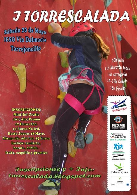 Torrejoncillo se estrena en las competiciones de Escalada
