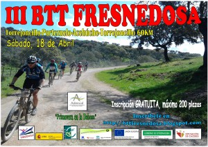 Cartel III BTT Fresnedosa