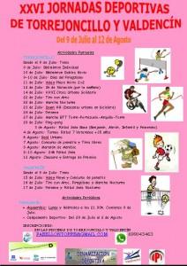 Cartel Oficial de la 26ª Edición de las Jornadas Deportivas de Torrejoncillo y Valdencín - DINAMIZACIÓN DEPORTIVA