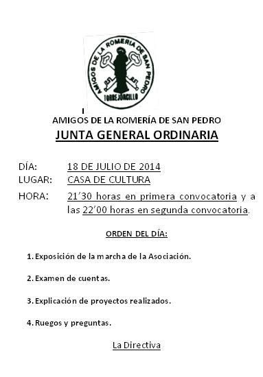 Asamblea General Amigos de San Pedro