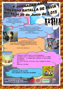 Cartel X JORNADAS AMPA 2015