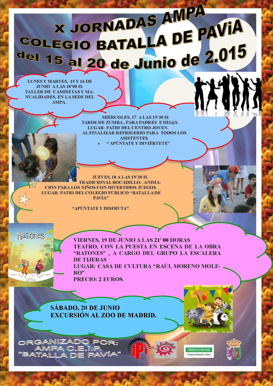 X Jornadas Ampa CEIP «Batalla de Pavía»