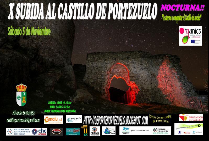X Subida al Castillo de Portezuelo Nocturna