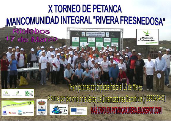 """El X Torneo de Petanca """"Rivera Fresnedosa"""", el próximo 17 de marzo en Riolobos"""