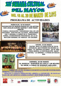 Cartel de SEMANA CULTURAL DEL MAYOR 2015