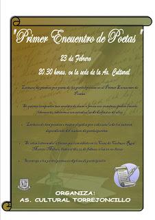 Primer Encuentro de Poetas de la Asociación Cultural de Torrejoncillo