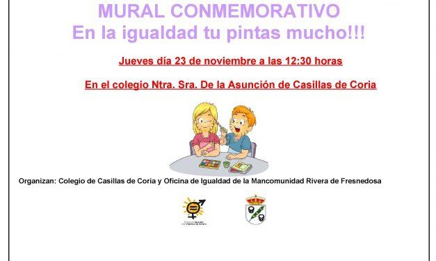 Mural conmemorativo: En la igualdad tú pintas mucho!!