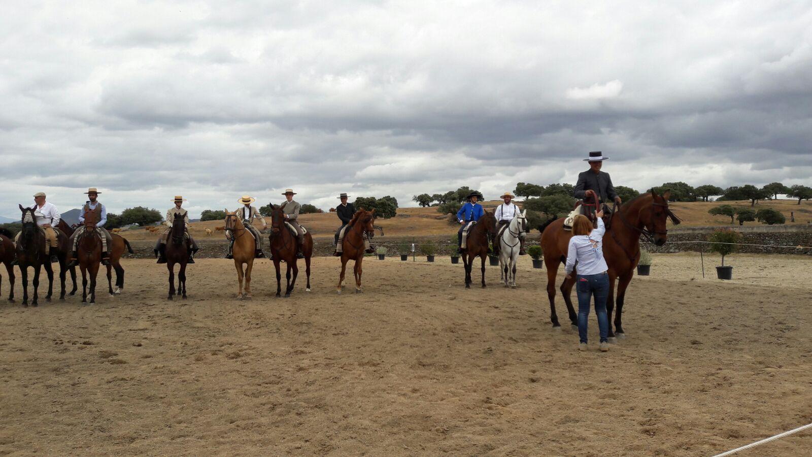 Tres torrejoncillanos triunfan en el II Concurso para aficionados de Doma Vaquera