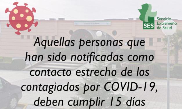 NOTA INFORMATIVA COVID-19 CENTRO DE SALUD DE TORREJONCILLO