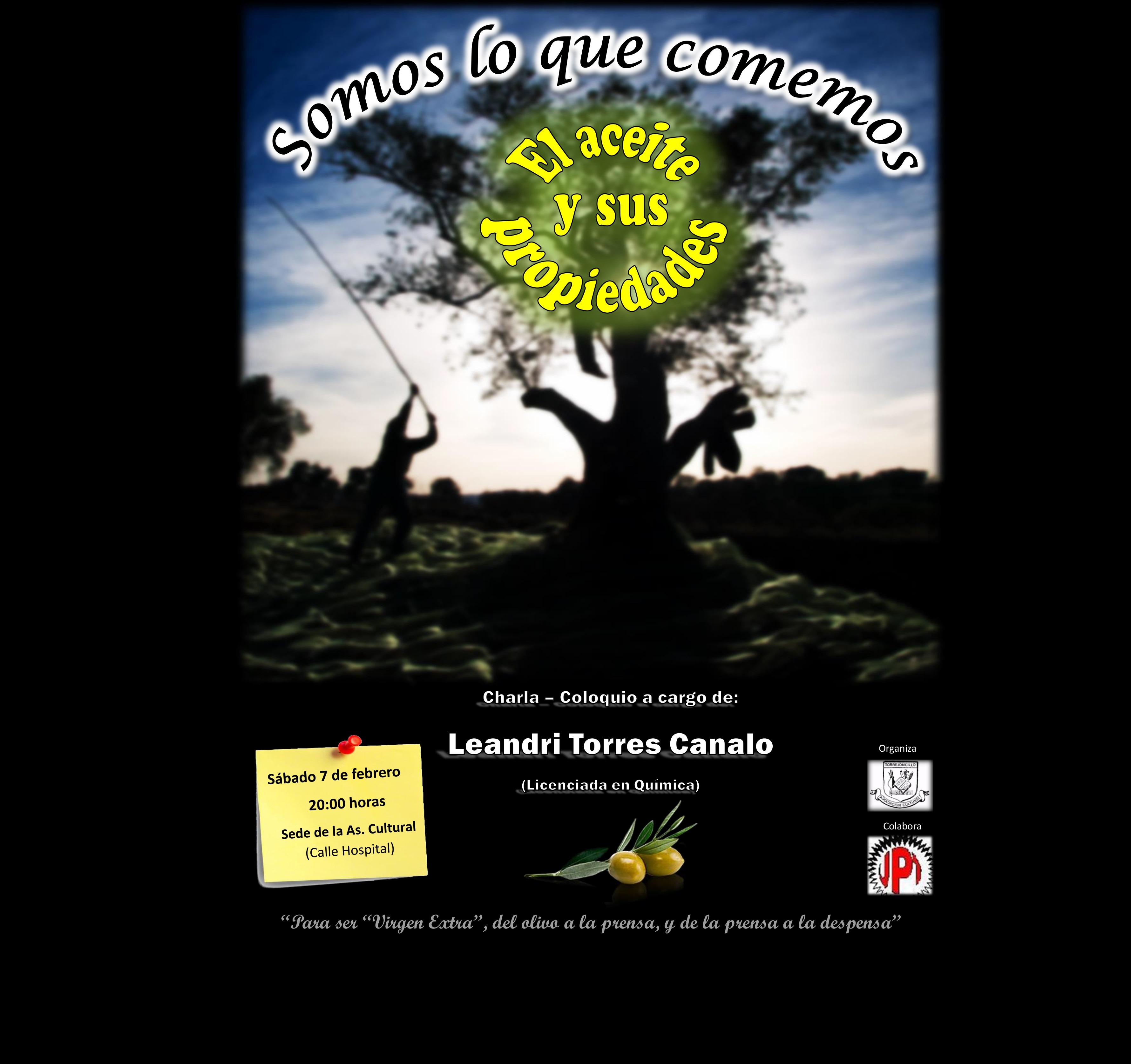 Charla-Coloquio: «Somos lo que comemos: el aceite y sus propiedades»