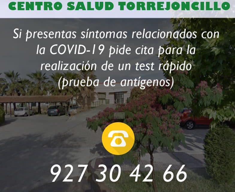 COMUNICADO COVID-19 DEL CENTRO DE SALUD DE TORREJONCILLO