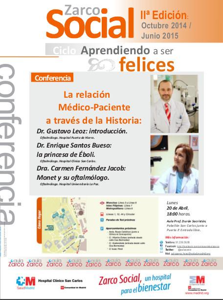 Conferencia de Enrique Santos: La relación Médico-Paciente a través de la historia