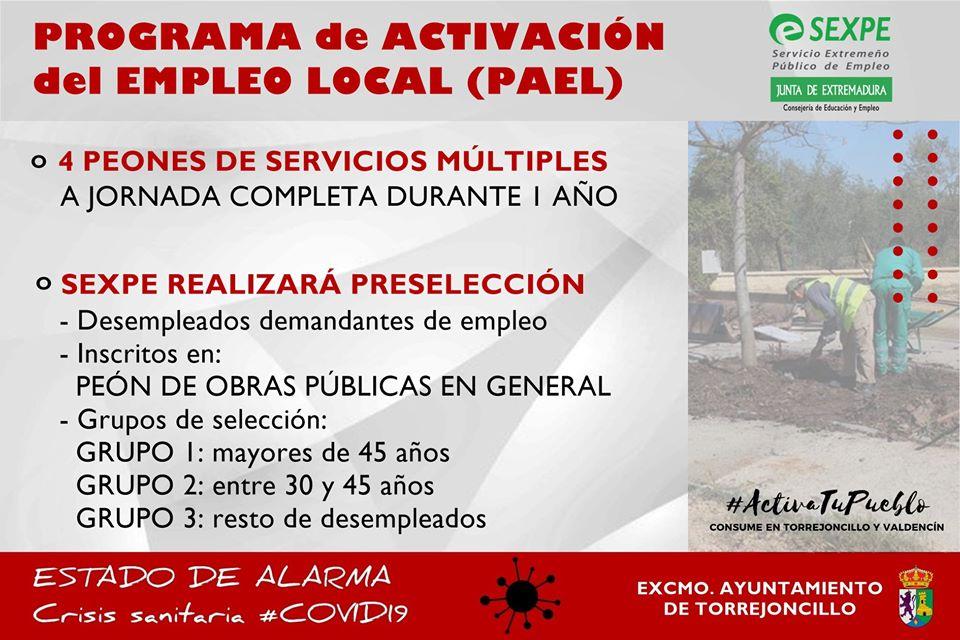 CONTRATACIÓN DE 4 PEONES DE SERVICIOS MÚLTIPLES