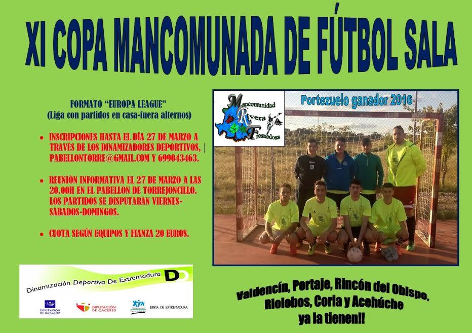 XI Copa Mancomunada de Fútbol Sala