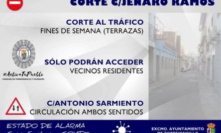 CORTE AL TRÁFICO EN LA CALLE JENARO RAMOS