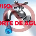Corte de agua a las 16 horas