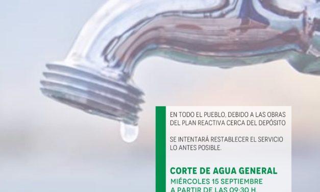 Corte de agua general en Torrejoncillo
