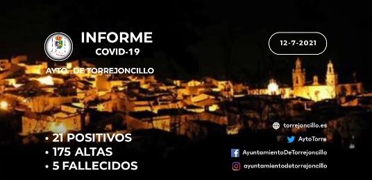 INFORME DE SITUACIÓN COVID-19 a 12/07/2021