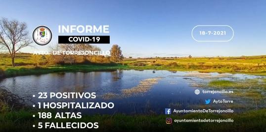 INFORME DE SITUACIÓN COVID-19 a 18/07/2021